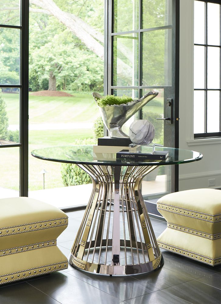 Lexington Home Brands' Riviera stainless dining table