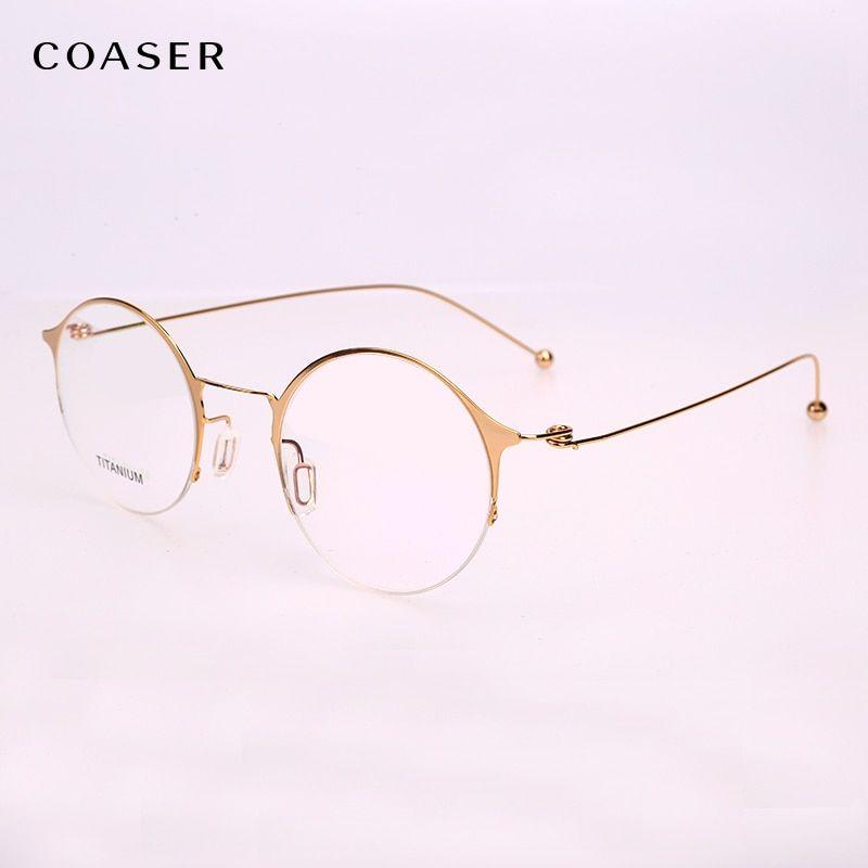 462736680d NEW Super Lighter Round Titanium Glasses frame Optical Metal Eyeglasses For  Men Women Computer Lens Myopia