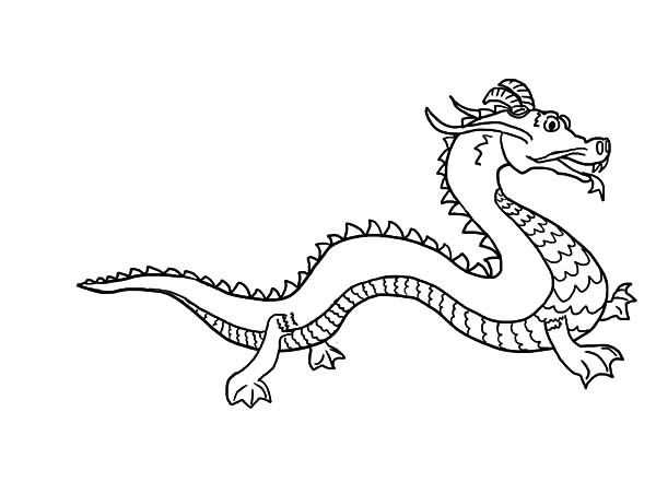 How To Draw Chinese Dragon Coloring Pages Netart In 2020 Dragon Coloring Page Coloring Pages Easy Drawings