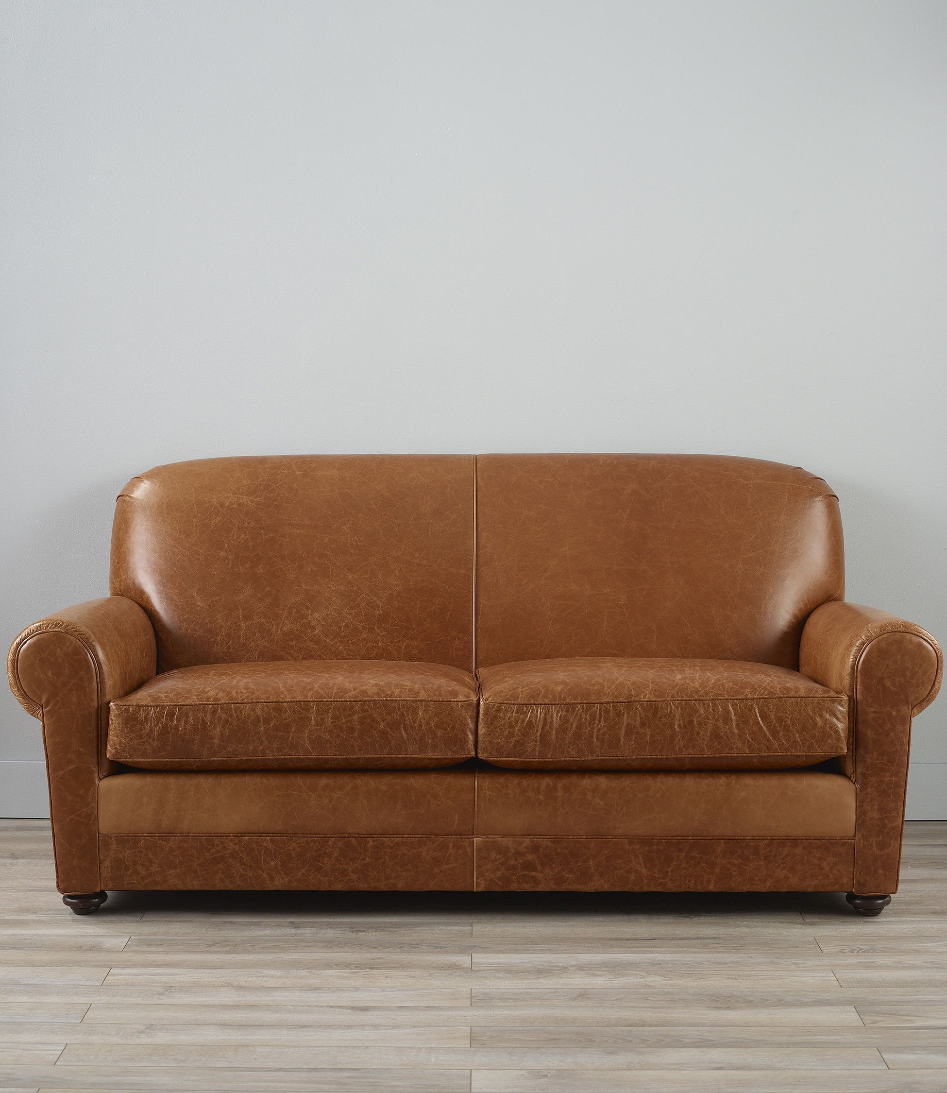 L Bean Leather Lodge Sleeper Sofa