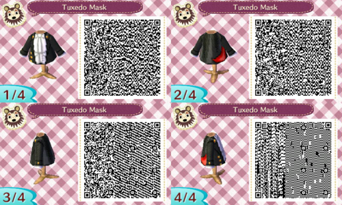 Tuxedo Mask Animal Crossing New Leaf Qr Code Yes But What If All I