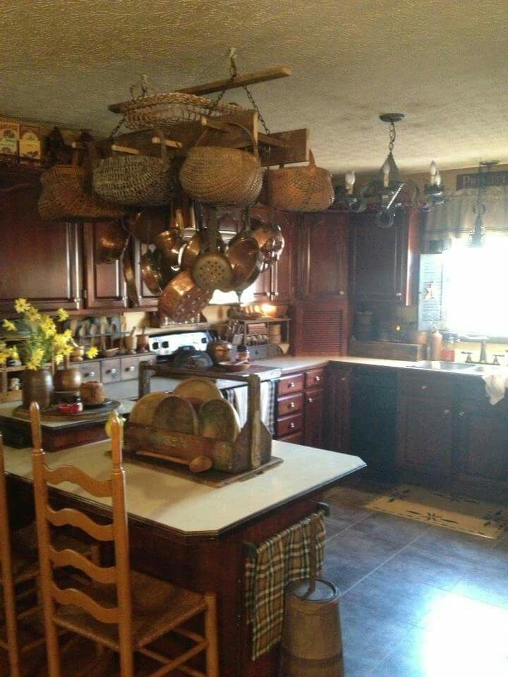 Primitive kitchen primitive country primitive decor country homes country decor farmhouse decor cabin kitchens country kitchens cozy cabin