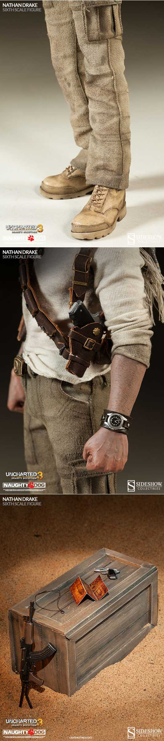 [Nathan Drake Uncharted 3 Sixth Scale Figure]