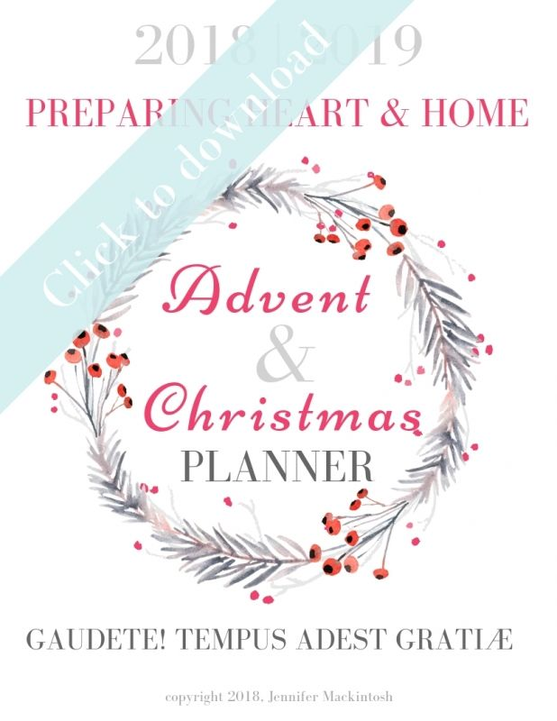 Advent Amp Christmas Planner 2018 2019 Wildflowers And