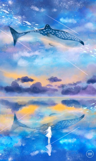 Art Artsy Idea New Mine Artist Cool Ocean Sky Blue Pink Drawing Painting From Photo Beautiful Canvas Painting Nature Watercolor Galaxy Painting