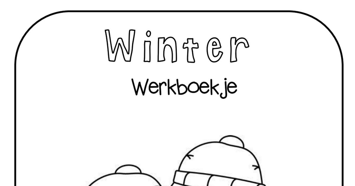 kleuters winter werkbladen.pdf #winterkleuters