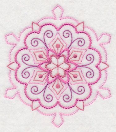Sensational Snowflake Fancy Candlewicking Design M9507 From Www