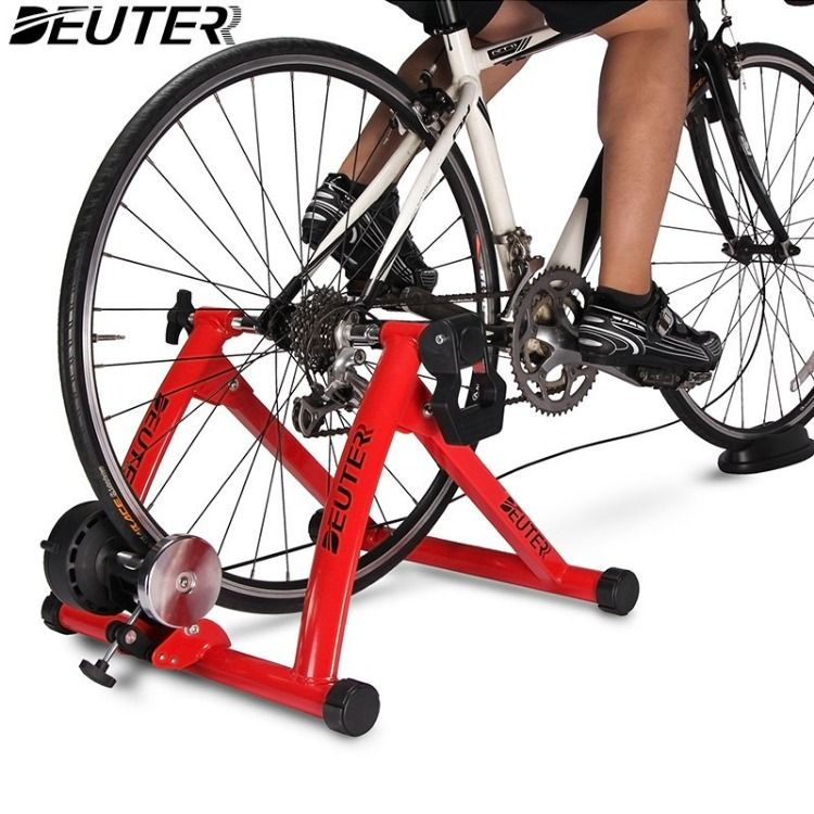 Deuter Bike Trainer Stationary Magnetic Exercise Bicycle Stand For Indoor Riding Portable With Noise Reducti Bicycle Workout Bike Trainer Bicycle Mountain Bike