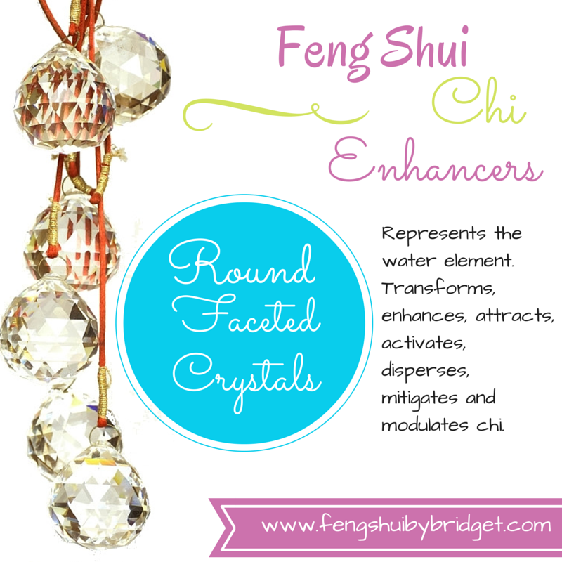Feng Shui Chi Enhancements Round Faceted Crystals Round