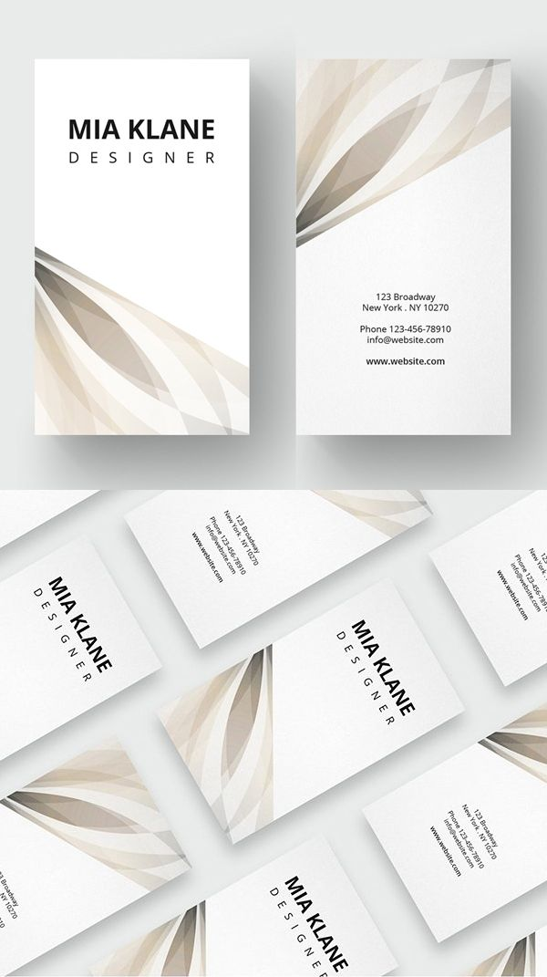 Luxury Clean Business Card Template #minimaldesign #businesscard ...