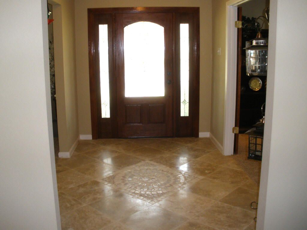 Mosaic Tile Pattern Entry Way Stunning Travertine Mosaic