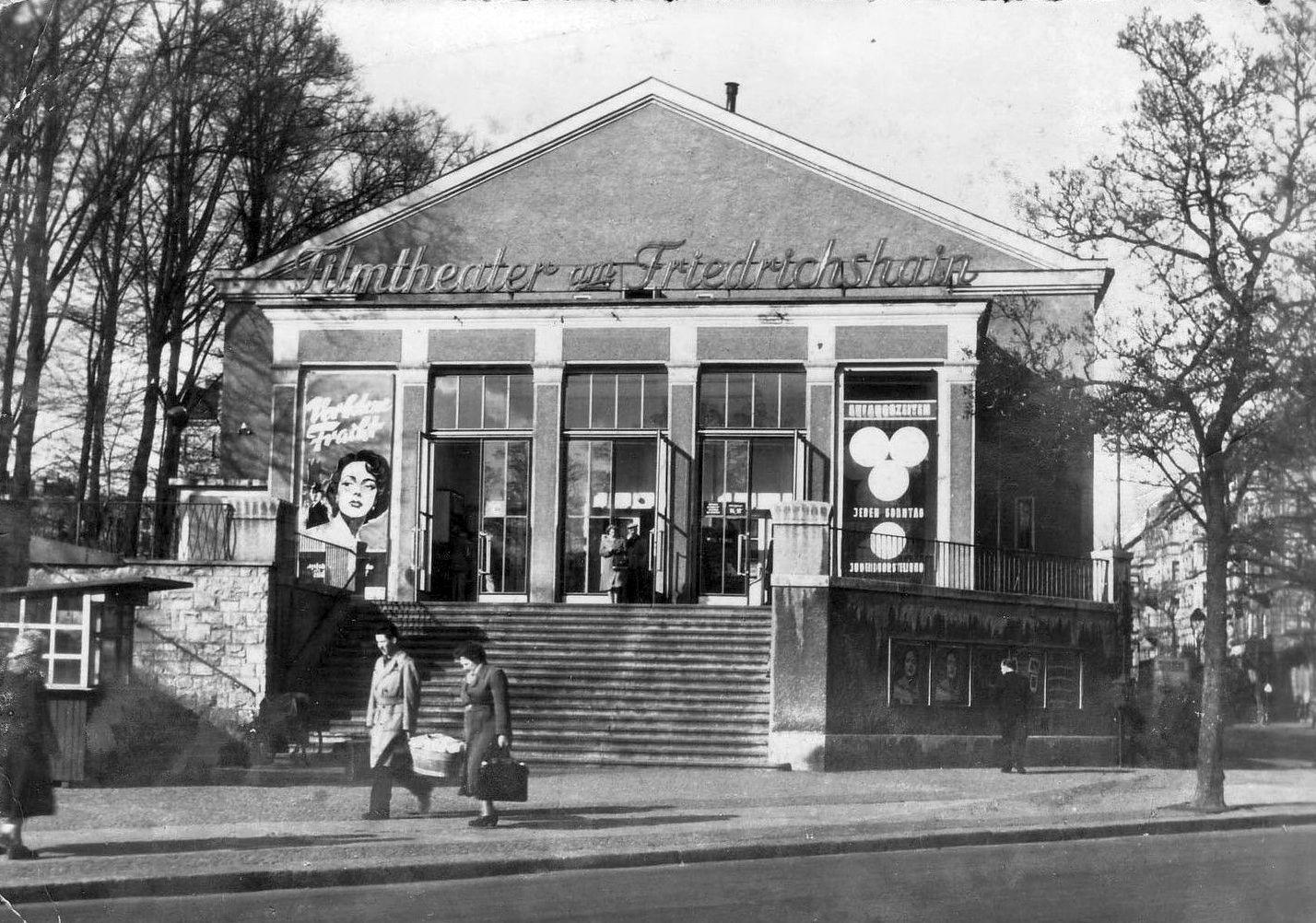 1957 Kino Am Friedrichshain Berlin Zeitreise Reisen