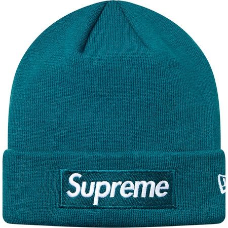 Supreme 슈프림  Supreme  Supreme X New Era® Box Logo Beanie Teal c6a924165d