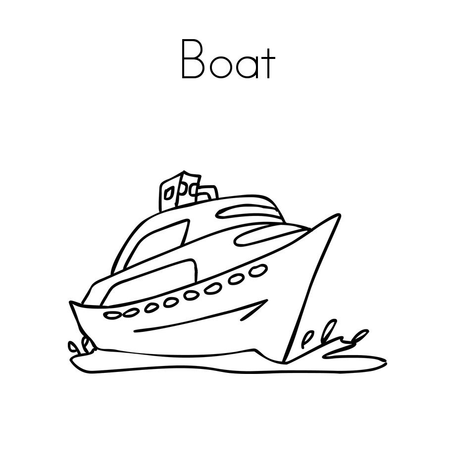 Free Printable Boat Coloring Pages For Kids | Miscellaneous Coloring ...