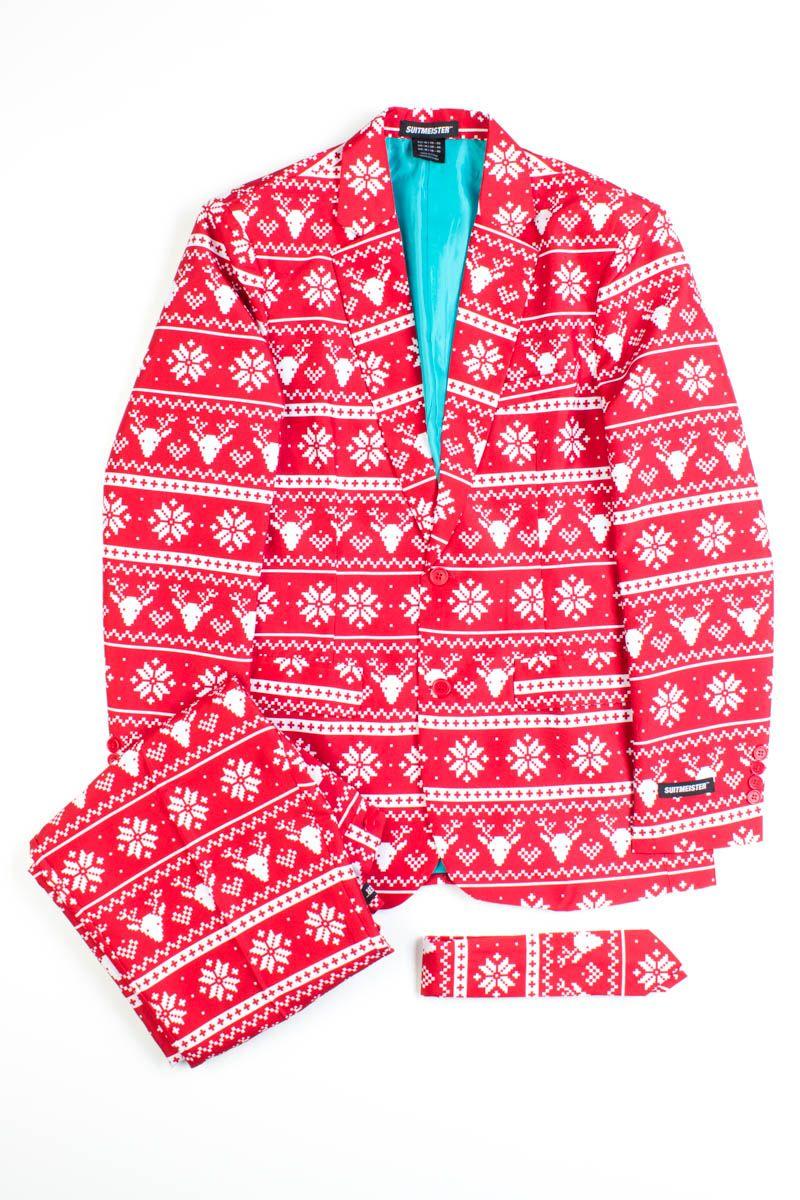 5bcdcb0210390 Fair Isle Christmas Suit | Mens | Christmas suit, Suits, Jackets