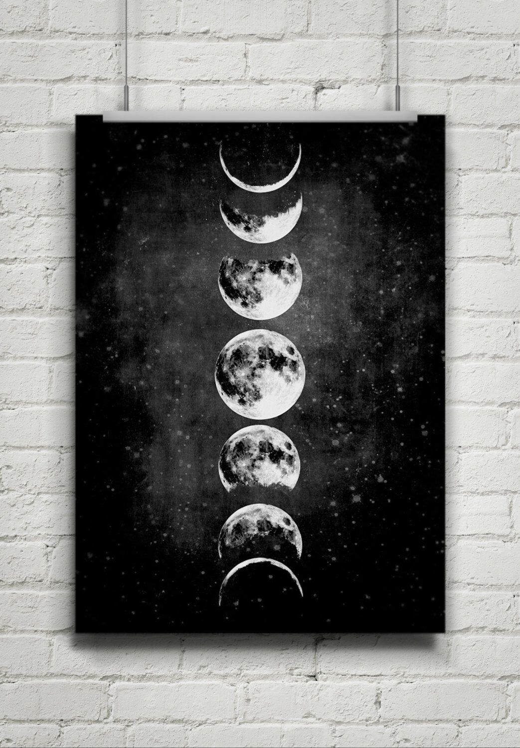 Moon Poster Full Moon Moon Art With Moon Phases Astronomy