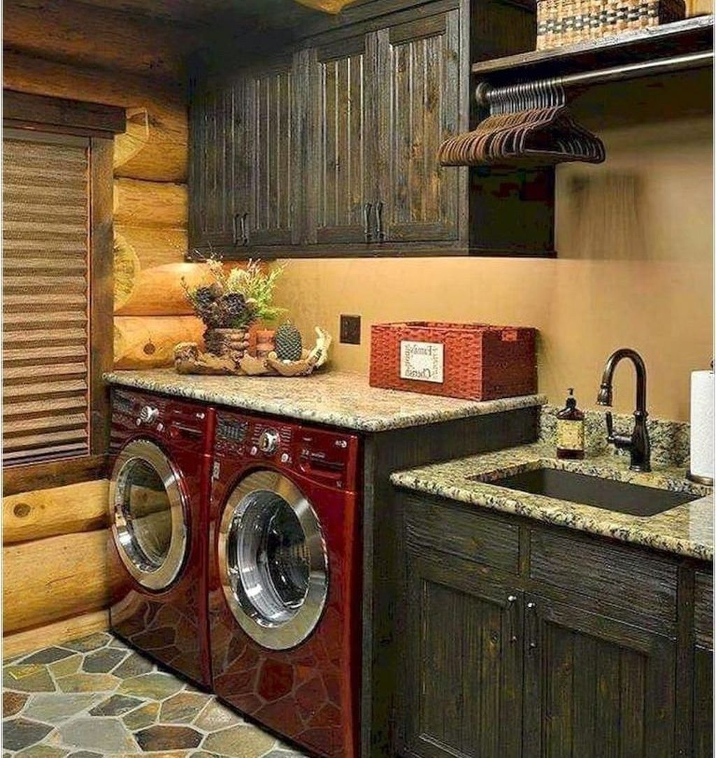 46 minimalist modern farmhouse laundry room ideas