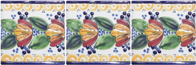 Talavera Tile - Mexican Connexion for Tile #bathroom #Talavera #handmade #Mexican explore MexicanConnexionforTile.com