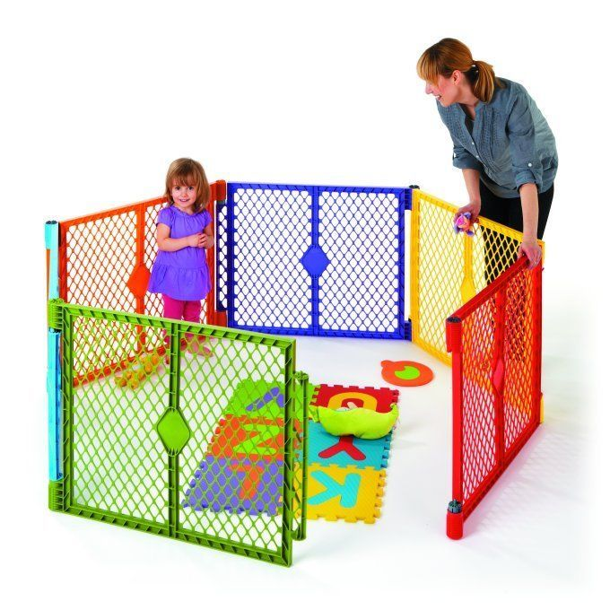North States Baby Superyard Playard Portable Indoor Outdoor 6 Panel New