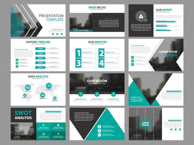 Business presentation infographic elements template set annual report corporate  Business presentation infographic elements template set annual report corporate