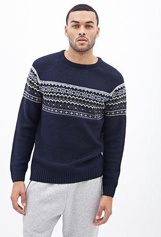 Fair Isle Raglan Sweater | 21 MEN - 2000083346 | christmas list ...