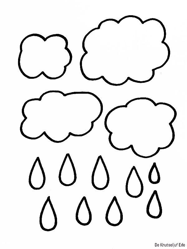 Thema Het Weer knutselen wolken regen paraplu | knutselen