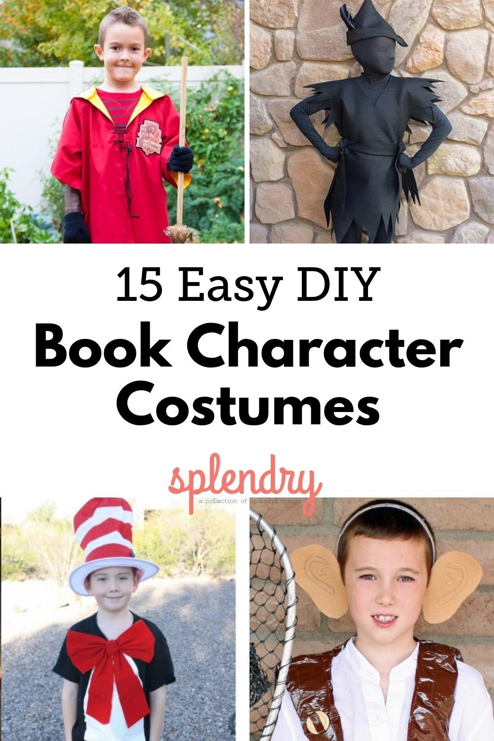 Easy Book Character Costumes Easy Book Character Costumes Kids Book Character Costumes Book Character Costumes