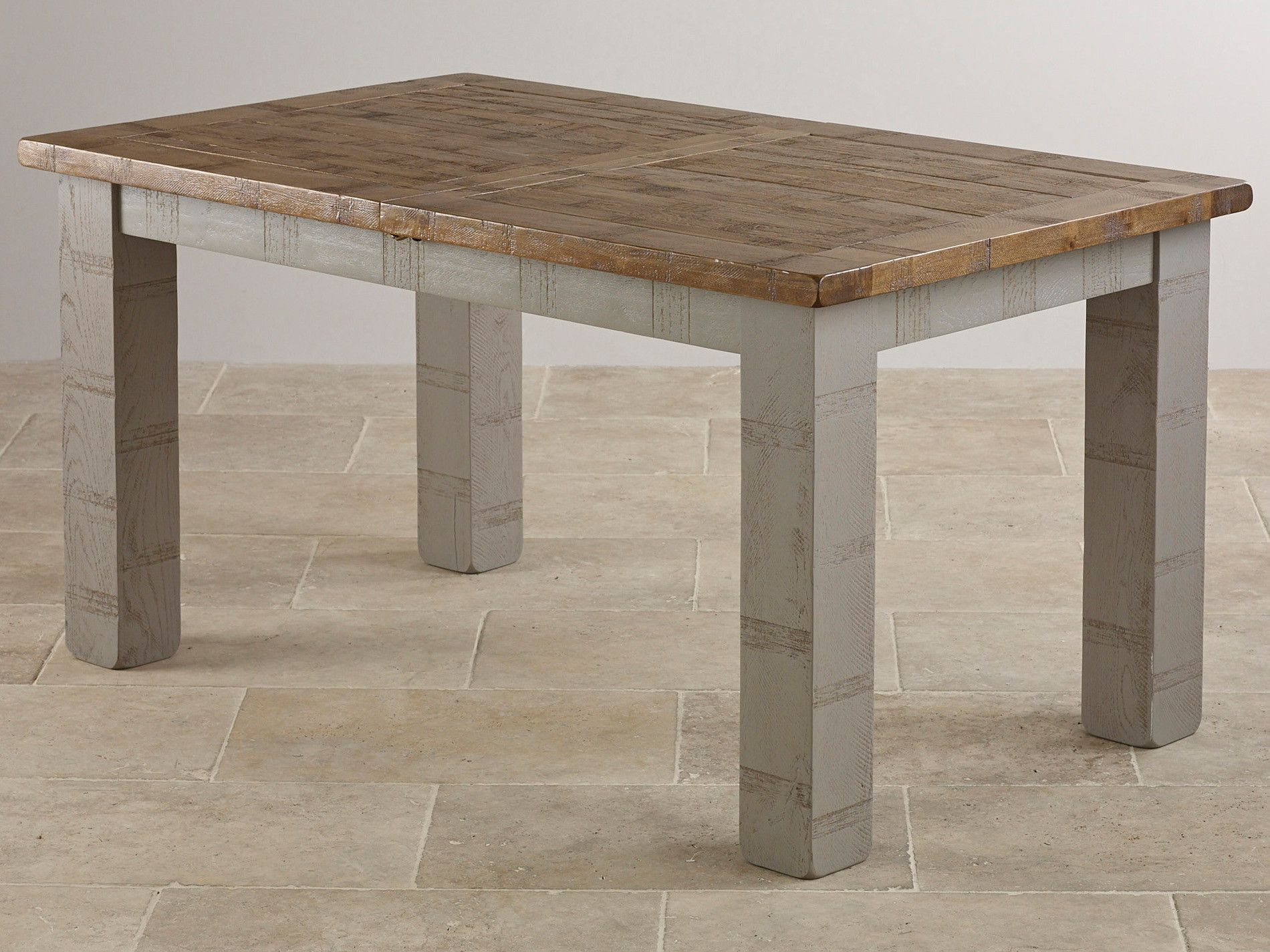 Clermont Painted Rough Sawn Solid Oak 5x3 Dining Table