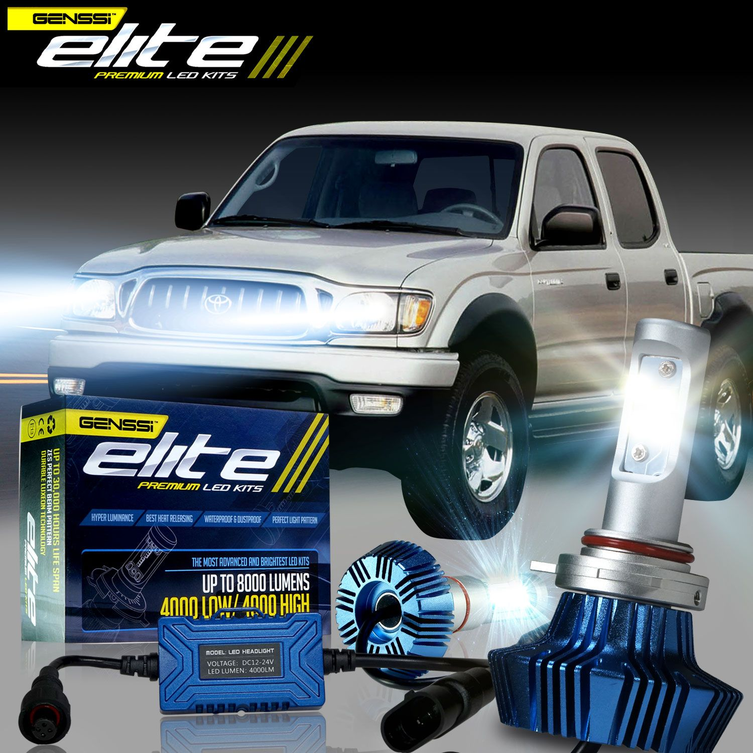 G7 Elite Led Headlight Bulb Kit For Toyota Tacoma 1997 2004