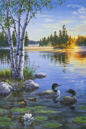 Morning on the Lake — Darrell Bush Art