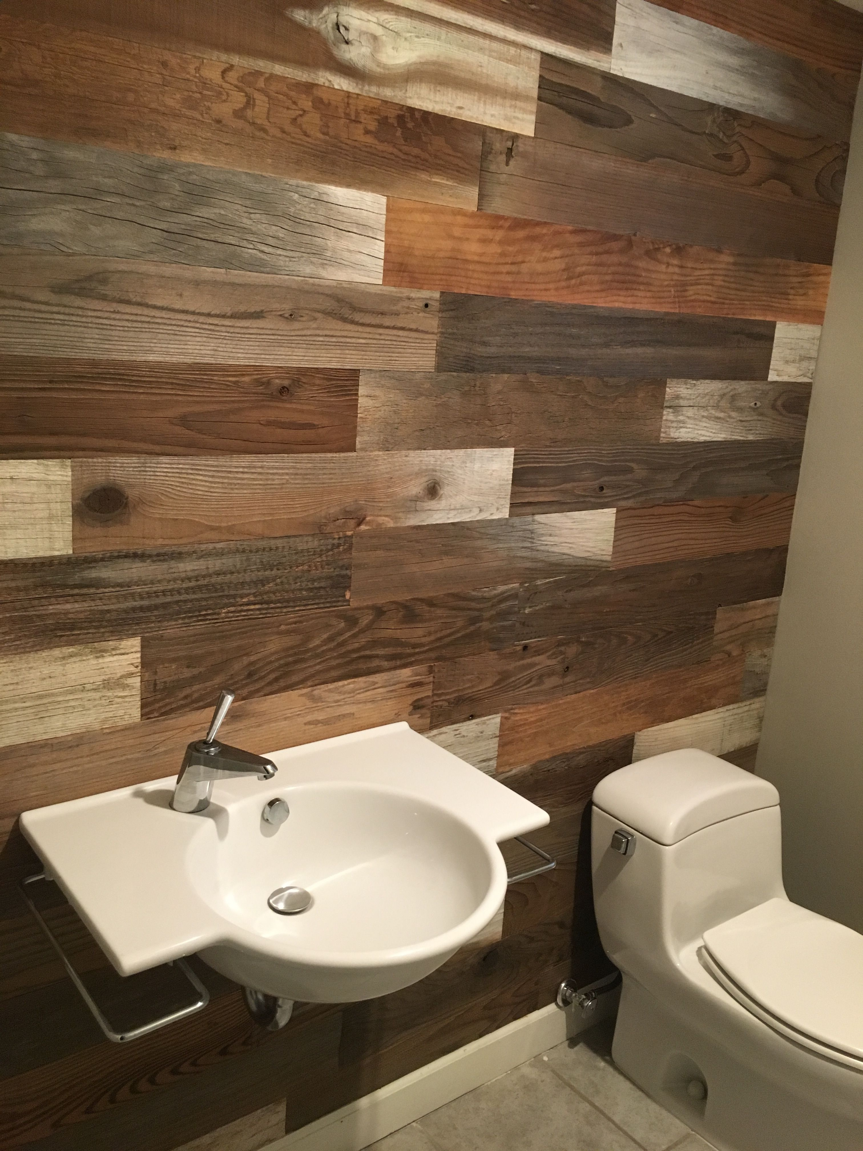 Bathroom Remodel With Stikwood: Cheap Bathroom Remodel, Bathroom