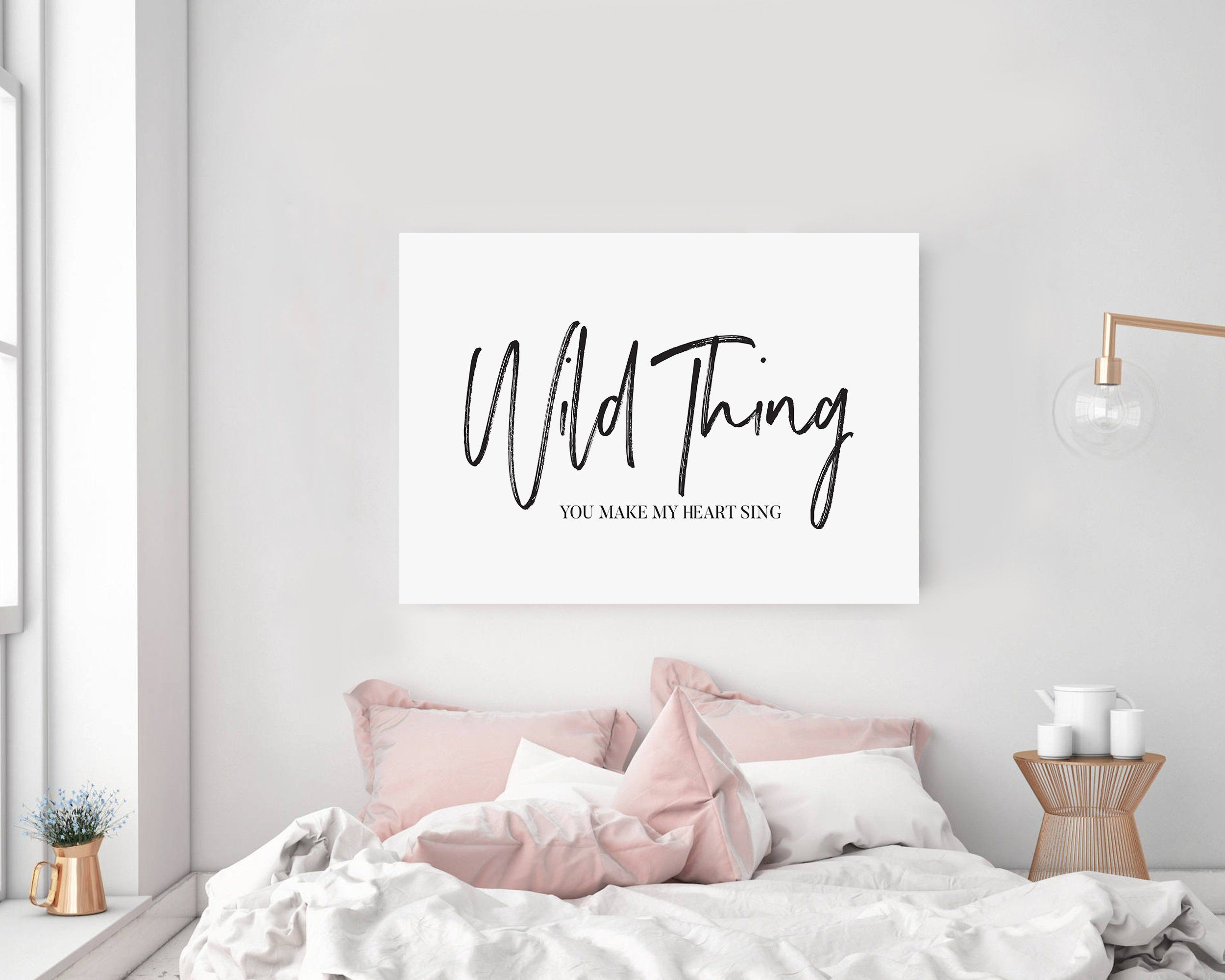 Wild thing you make my heart sing wall art lyrics quote large
