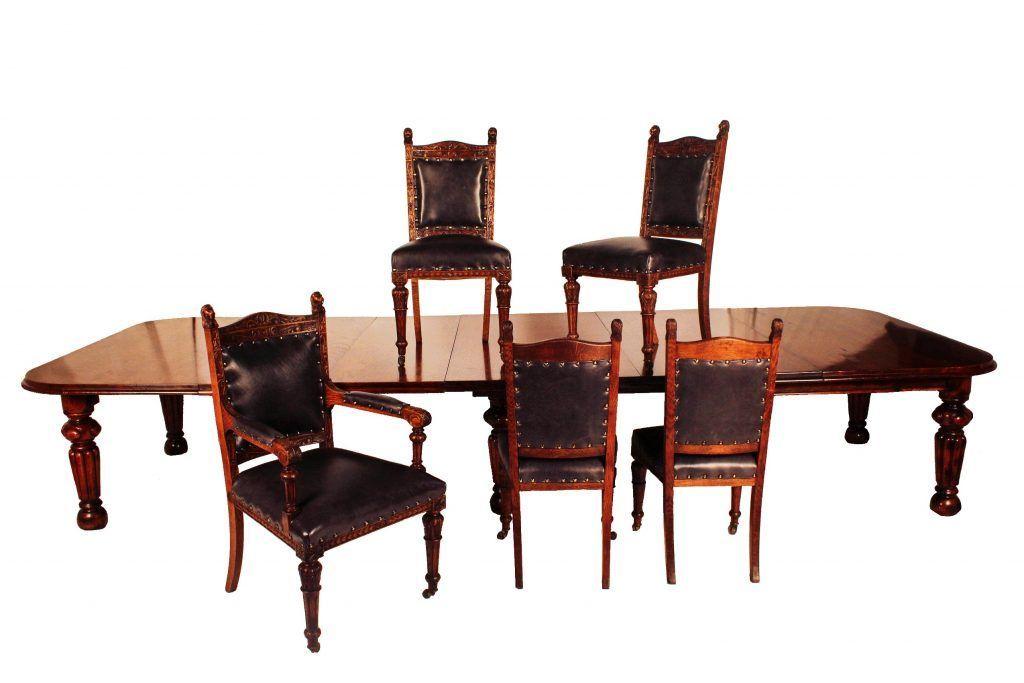 Surprising 18 Seater Victorian Oak Table 18 Chairs 2 Carvers 16 Creativecarmelina Interior Chair Design Creativecarmelinacom