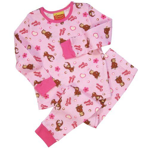 Curious George Young Girls Thermal TO PJ 52506ac32