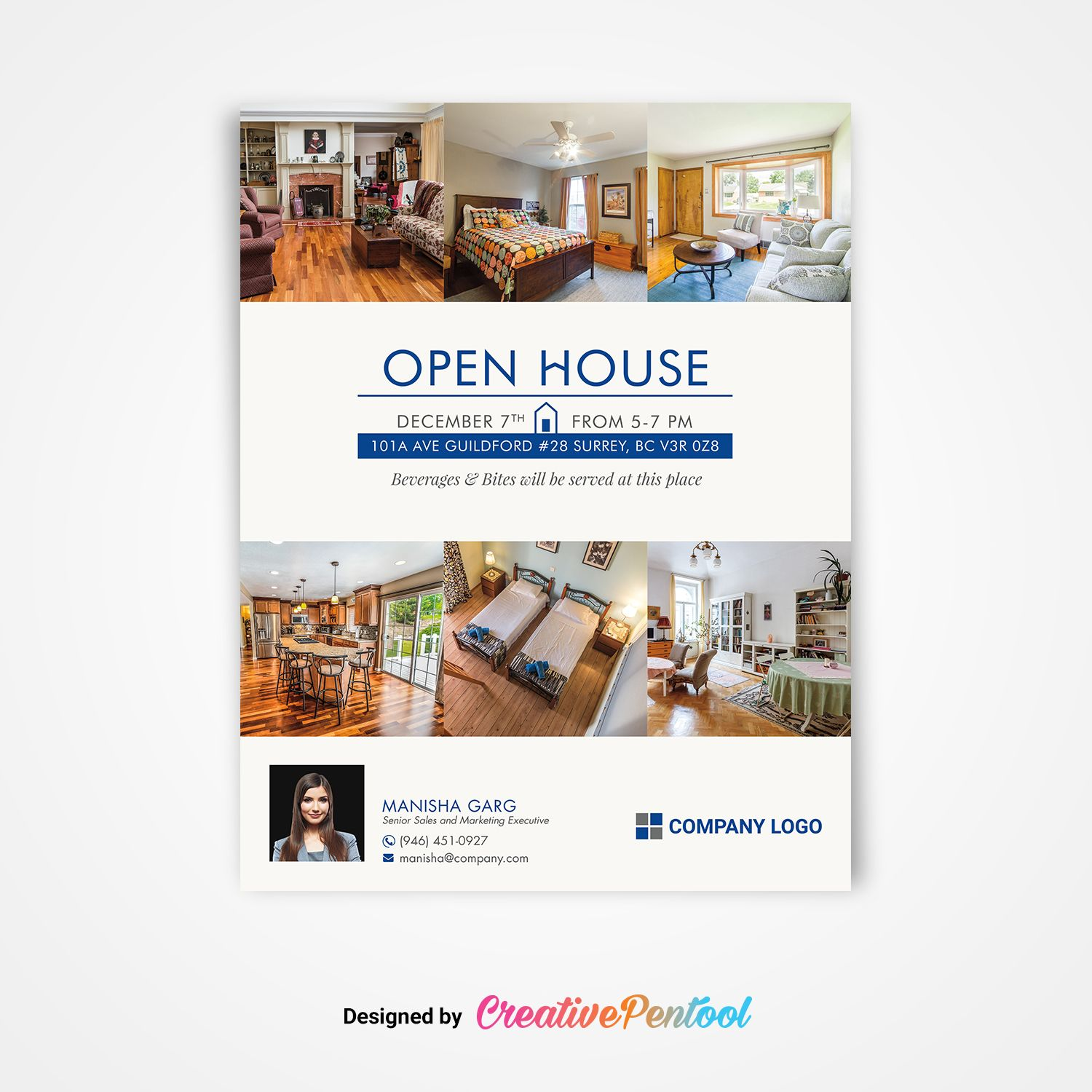 Free Open House Flyer 8 5x11 Printable Business Flyer Templates Flyer Template Flyer