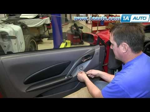 How To Remove Install Inside Door Panel 2000 05 Toyota Celica   YouTube