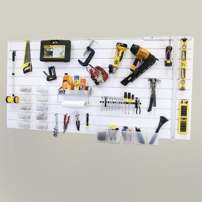 Proslat Handyman Bundle Wall Panel Kit Wall Paneling Garage Wall Organizer Slat Wall