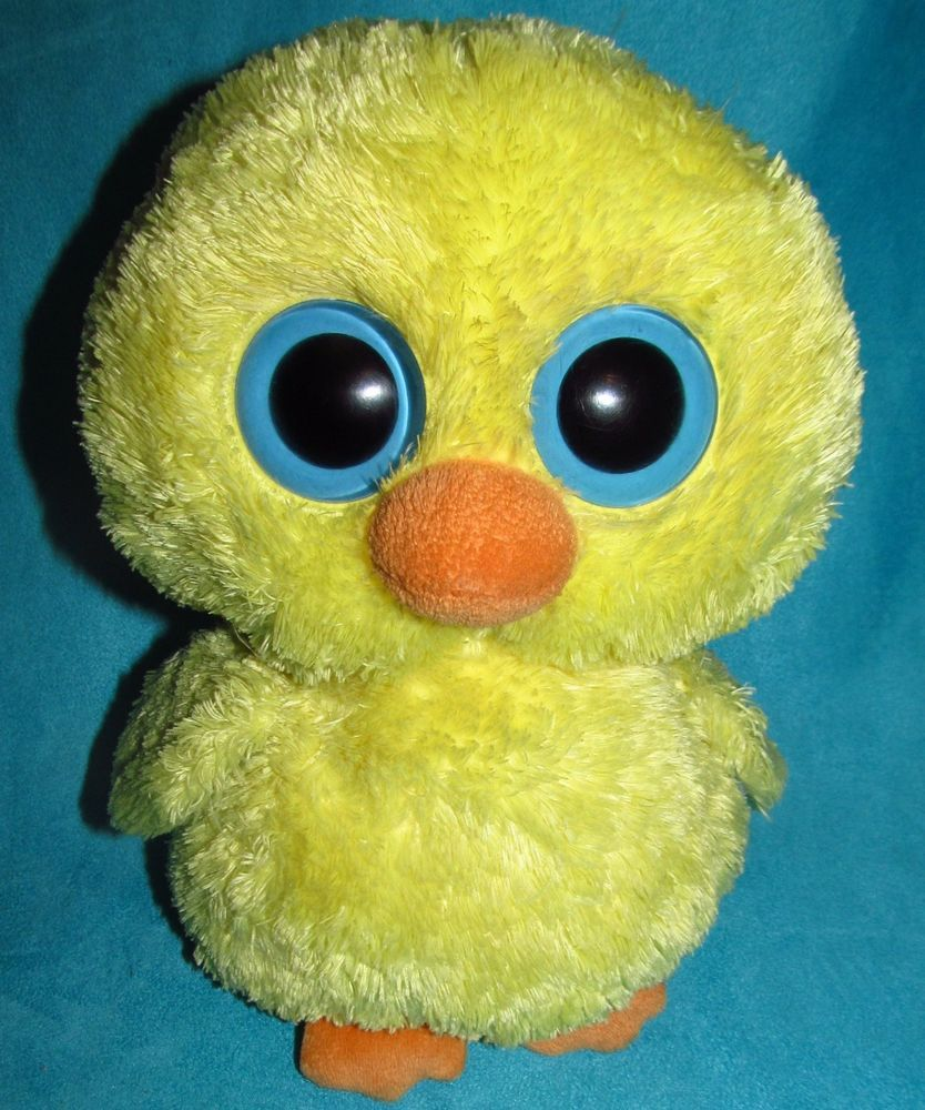 Retired Ty Goldie Beanie Boo Yellow Chick Large 9