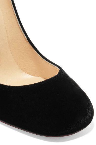 95cd774376ac Christian Louboutin - Cadrilla Corazon 100 Appliquéd Velvet Pumps - Black