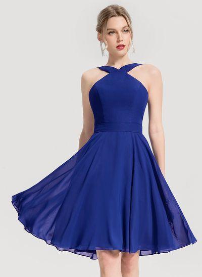 JJsHouse A-Line V-neck Knee-Length Chiffon Cocktail Dress