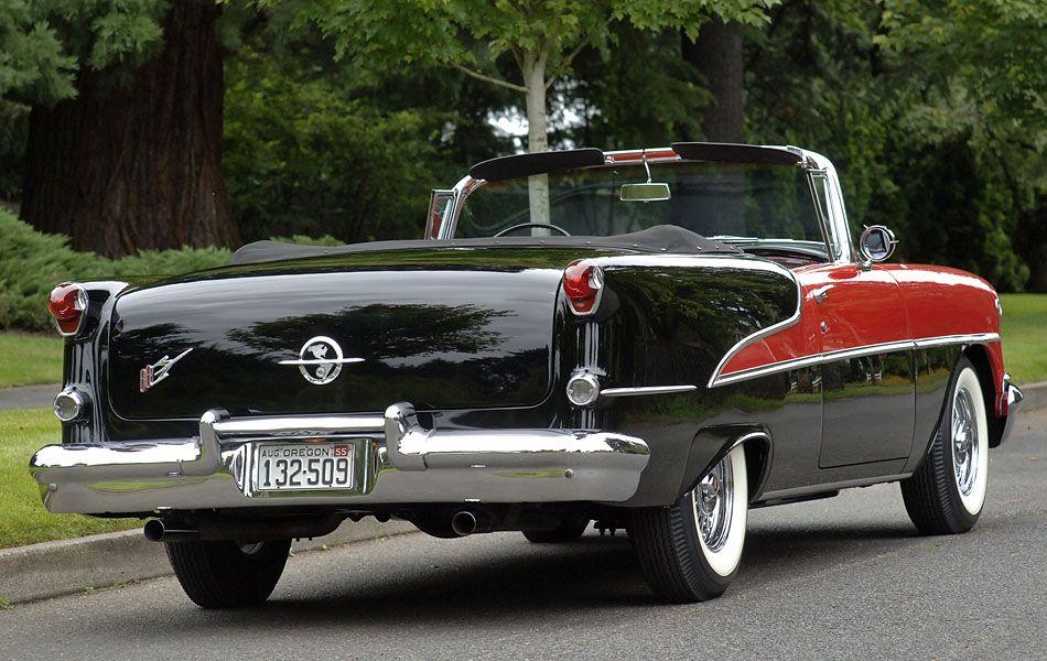 1955 Olds 88 Convertible Stunning Red On Black | ≈ö¿ö≈ Wheels ...