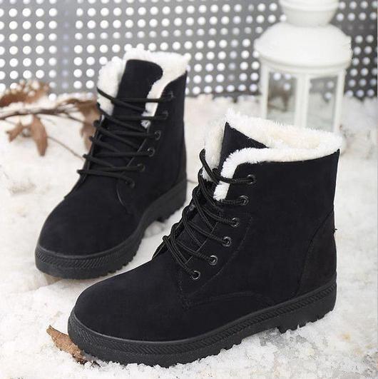 warm fur ankle boots in 2019 unbedingt kaufen. Black Bedroom Furniture Sets. Home Design Ideas