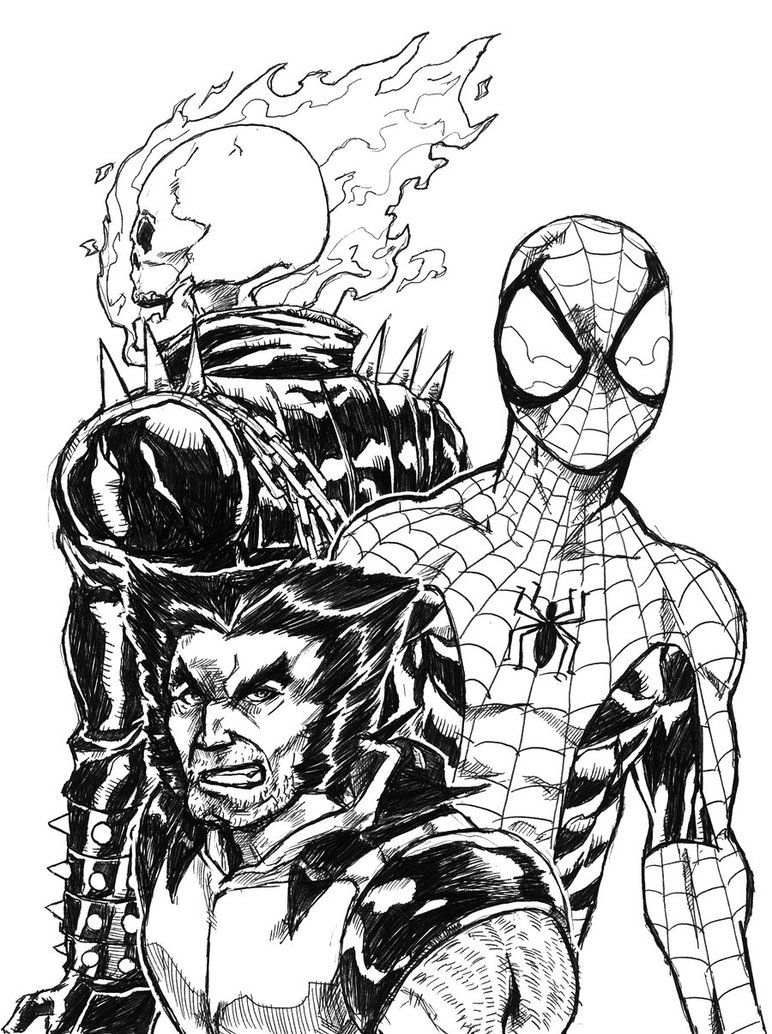Ghost Rider Coloring Pages Coloring Pictures Spiderman Coloring Coloring Pages