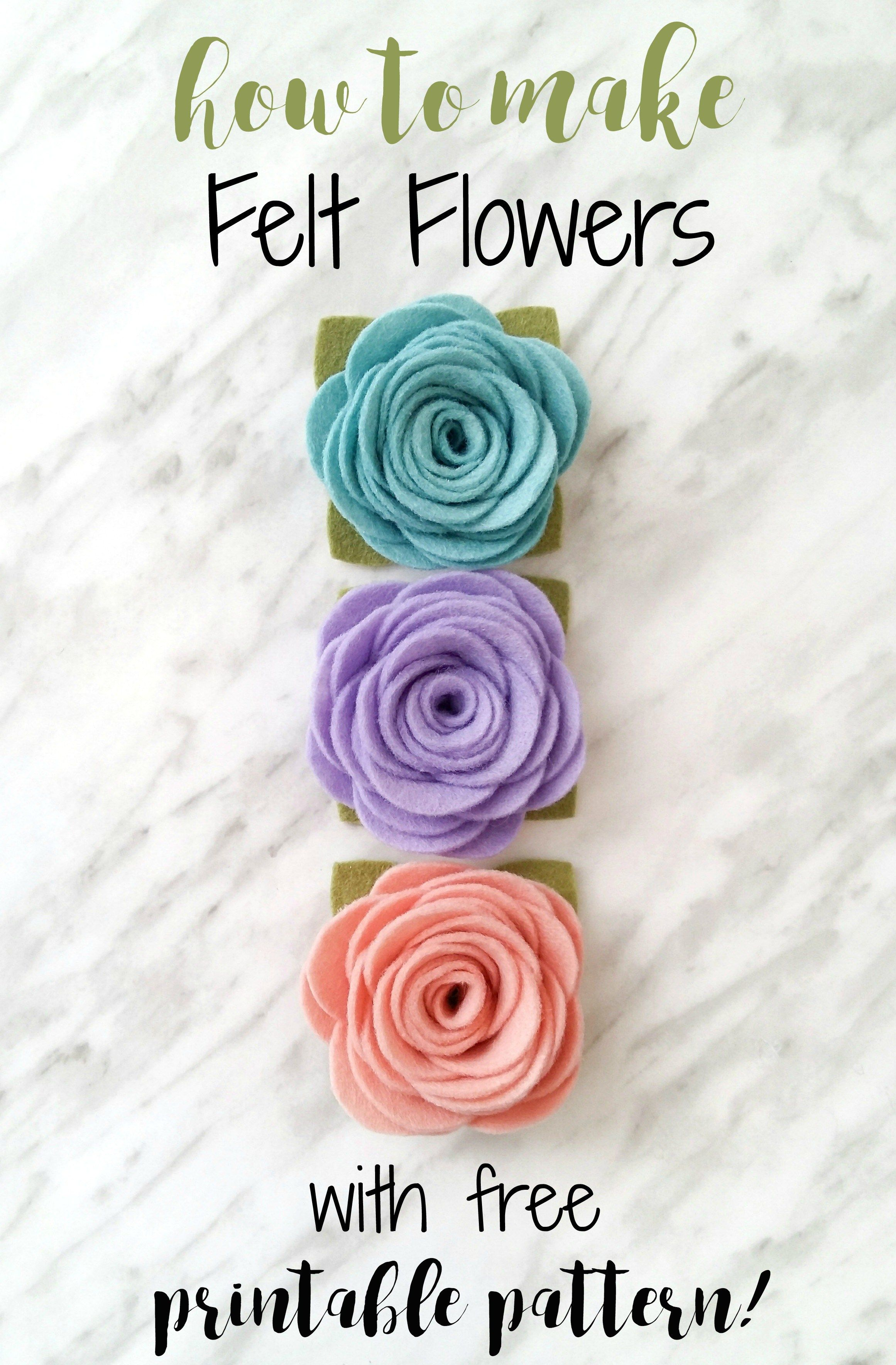 An Easy Felt Flower Tutorial That Can Be Used For Making Headbands