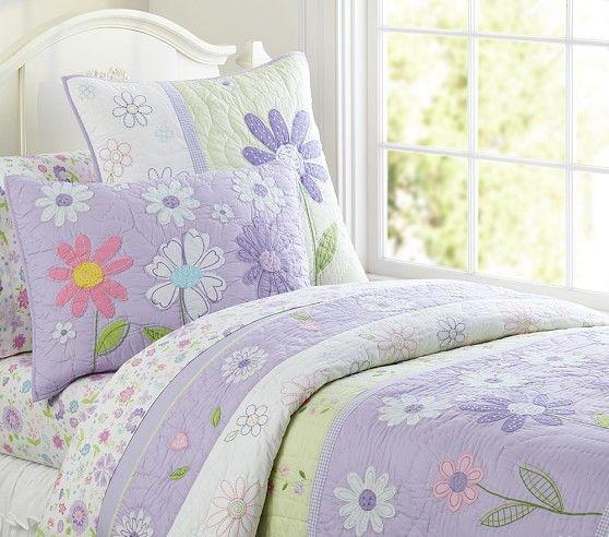 Genial Daisy Garden Quilted Bedding | Pottery Barn Kids