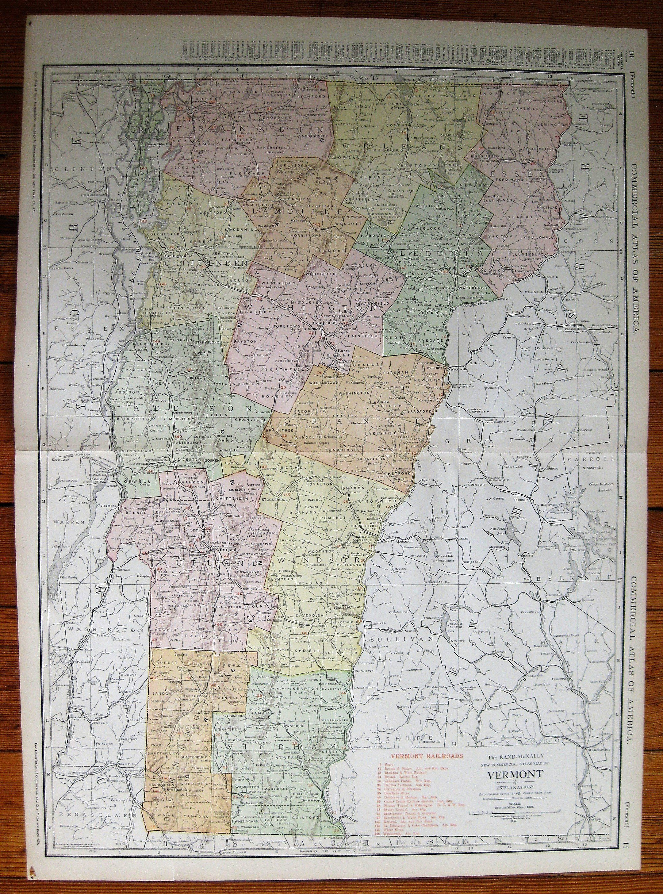MAP ANTIQUE MILITARY 1777 BATTLE HUBBARDTON VERMONT REPLICA POSTER PRINT PAM2048