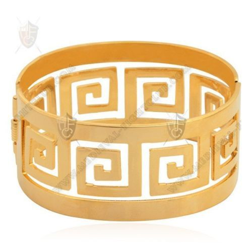 Discount G Brand Vintage Cuff Bracelets Real Gold Plated High Quality Big Bangles For Men Women Jewelry Factory Wholesale Mgc From China  sc 1 st  Pinterest & Ancient-Greek-hinged-cuff-wrist-bracelet-18K-gold-costume-jewellery ...