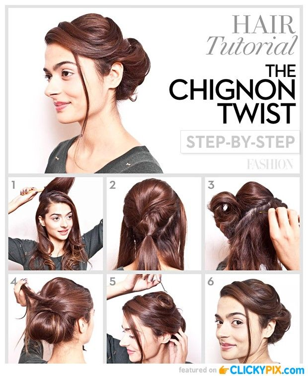 Prom Hair Tutorial The Chignon Twist Step By