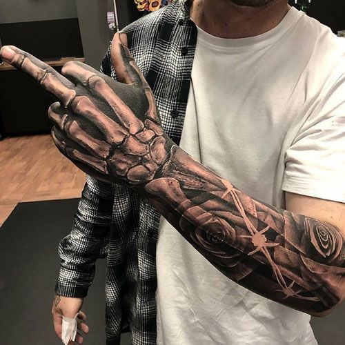 125 Best Sleeve Tattoos For Men Cool Ideas Designs 2020 Guide Badass Sleeve Tattoos Half Sleeve Tattoos For Guys Hand Tattoos For Guys