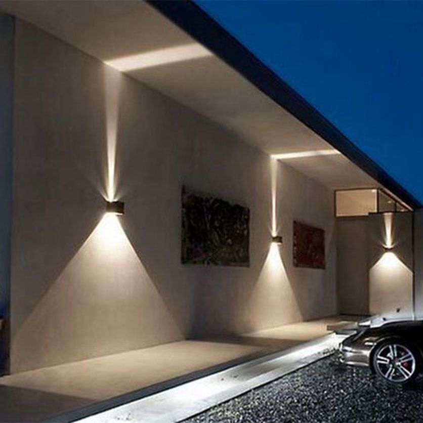 Quality Super Bright Ip65 Outdoor Wall Light Ajustable Square Black White Sconce Decorative Lighting Porch Garden Hom Led Wall Lights Led Wall Lamp Wall Lights
